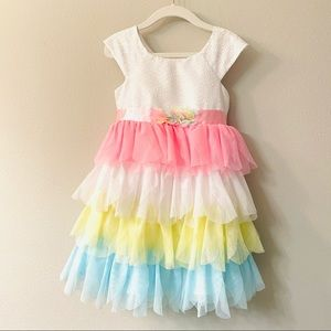 Jona Michelle pastel tiered Easter dress - 4t